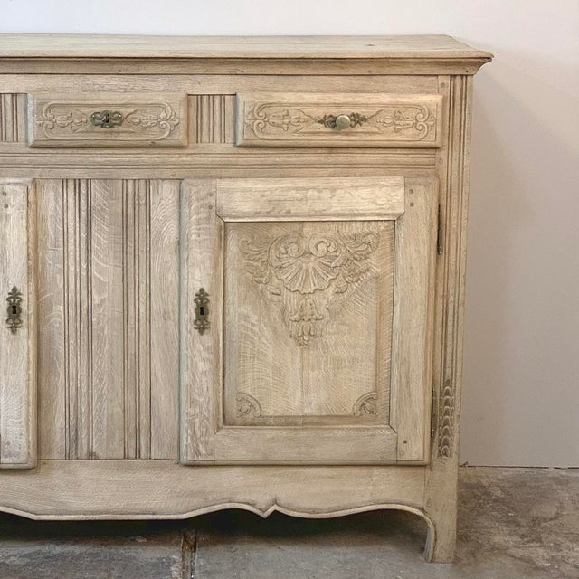 Late 19th Century 19th Century Rustic Regence Stripped Oak Buffet For Sale - Image 5 of 12