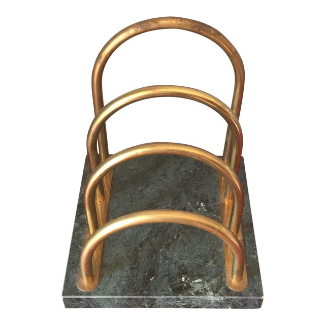 Brass & Marble Desk Organizer - Image 1 of 6
