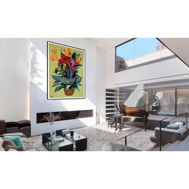 Pot De Fleurs Acrylic Painting - Image 4 of 8