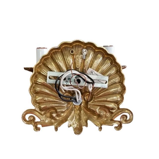 Early 20th Century Neo-Rococo Spanish Sconces, a Pair For Sale - Image 5 of 7