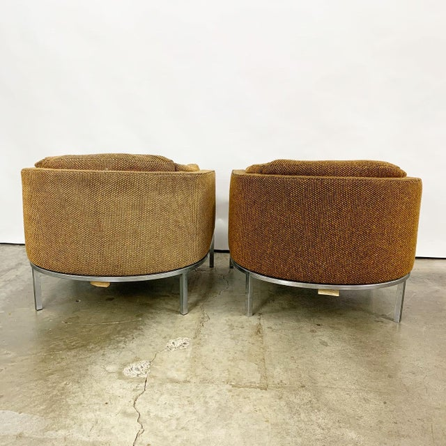 Orange Pair of Modern Club Chairs Designed by Jules Heumann For Sale - Image 8 of 11