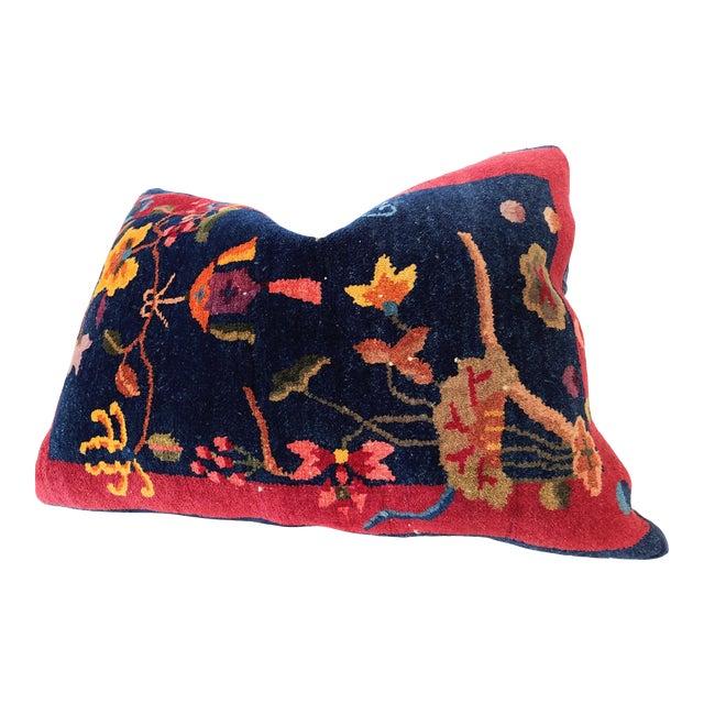 1920s Chinese Art Deco Nichols Rug Custom Pillow For Sale