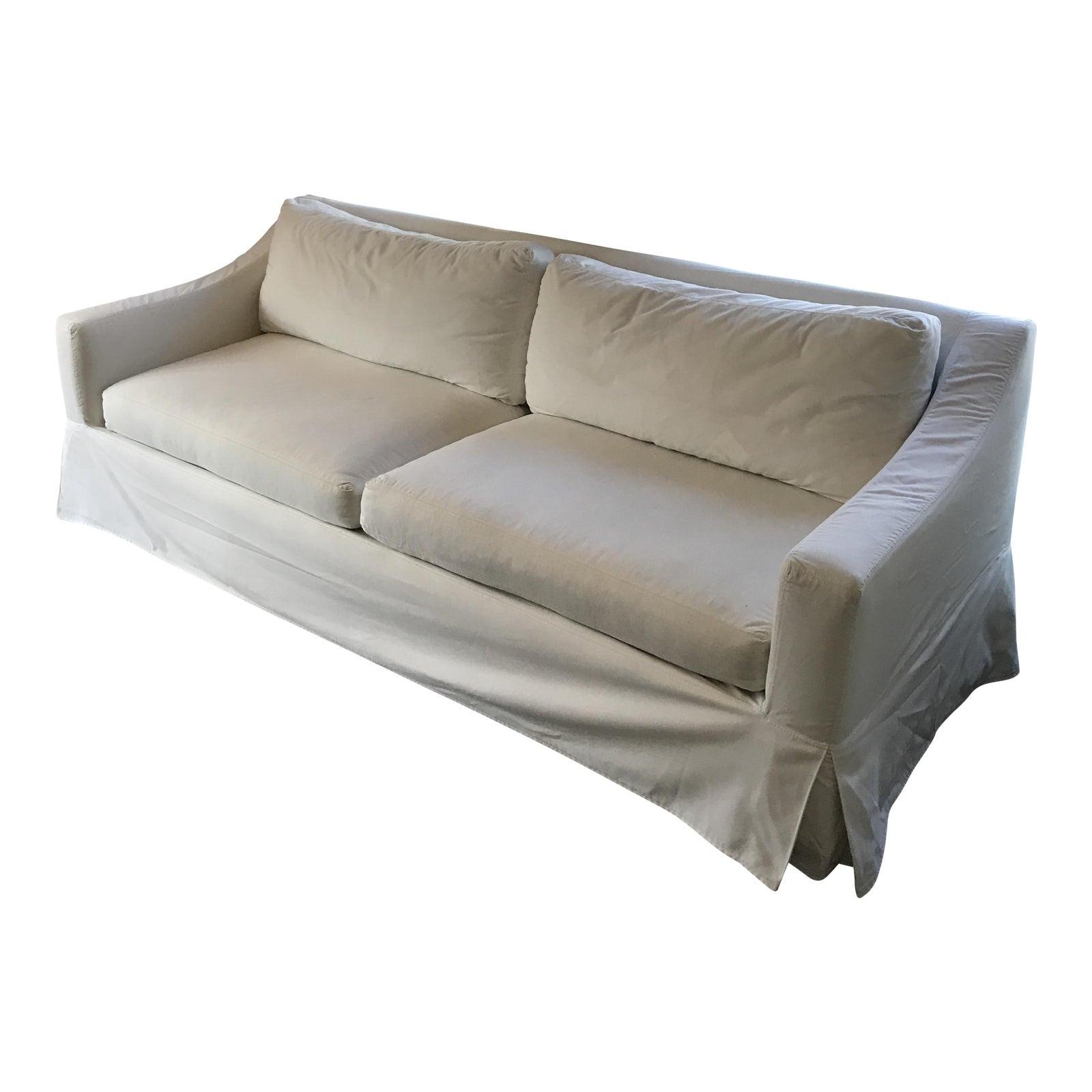 Pottery Barn York Slope Arm Slipcovered Sofa Chairish