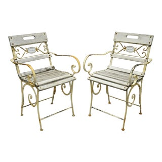 Garden Arm Chairs by Maison Provence & Fils-A Pair For Sale