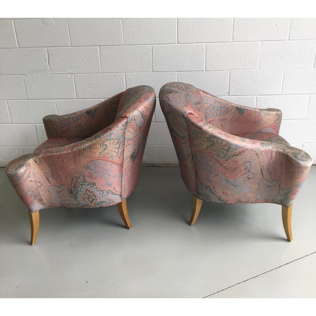 Art Deco Thayer Coggin Design Studio Vintage Lounge Chairs - a Pair For Sale - Image 3 of 13