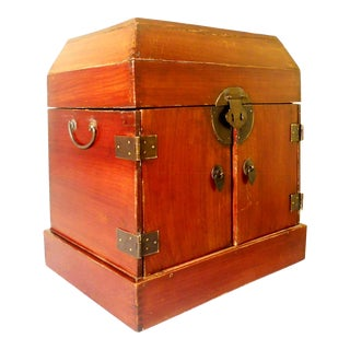 Antique Chinese Ming Stationery Chest, Zelkova Wood, Circa 1800-1849