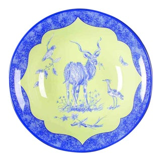 Lynn Chase Blue and Green African Inspirations Porcelain Bowl