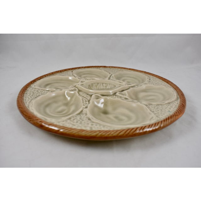 St. Clément French Gray Shell, Rope & Lemon Oyster Plate For Sale In Philadelphia - Image 6 of 10