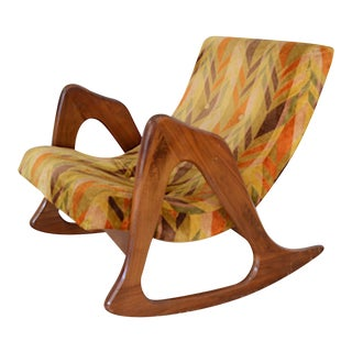 1960s Vintage Adrian Pearsall for Craft Associates Crescent Rocking Chair For Sale
