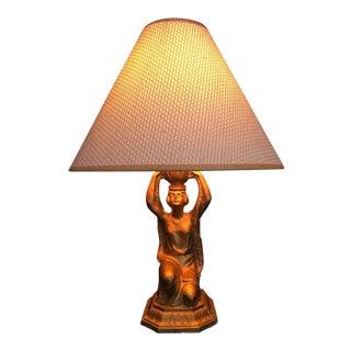 Art Nouveau Egyptian Revival Figural Lamp