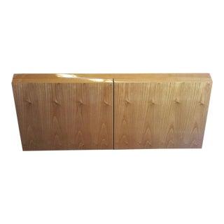 1970s Mid-Century Modern Giovanni Offredi Saporiti Exotic Wood Cabinet For Sale