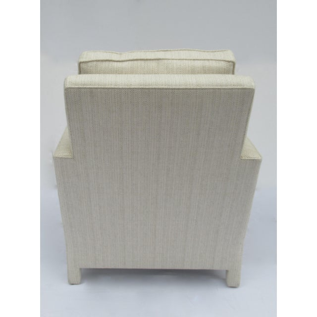 1990s Donghia Ogee Club Chair and Ottoman For Sale - Image 5 of 13