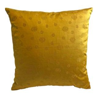 Vintage Gold Scalamandre Celestial Silk Cotton Pillow Cover For Sale
