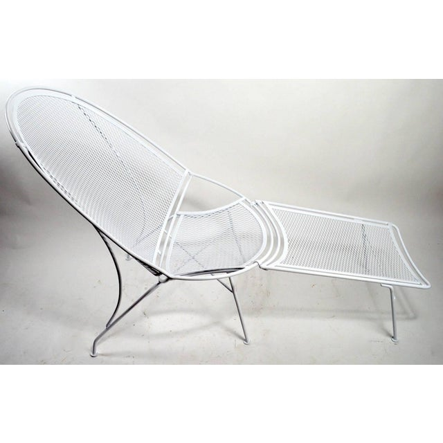 1960s Tempestini for Salterini High Back Lounge With Footrest For Sale - Image 5 of 9