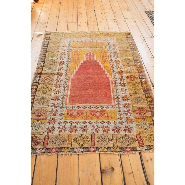 """Vintage Turkish Prayer Rug - 3'8"""" x 5'2"""" For Sale - Image 10 of 13"""