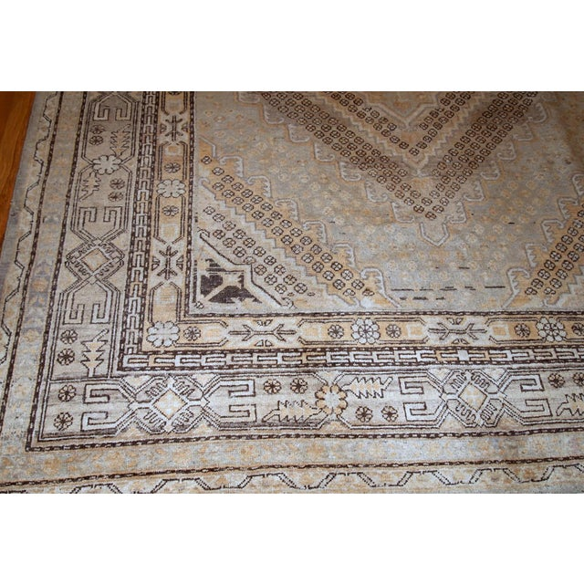 1900s Handmade Antique East Turkestan Khotan Rug 6.1' X 11.9' For Sale - Image 4 of 12