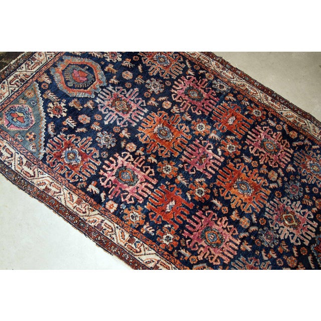 1910s 1910s, Handmade Antique Persian Malayer Rug 4.1' X 6.3' For Sale - Image 5 of 11