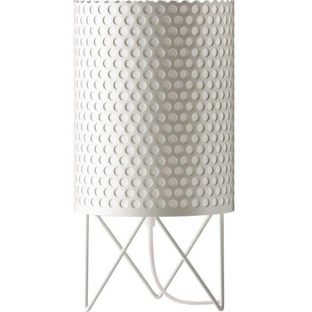 Mid-Century Modern Joaquim Ruiz Millet White Aluminum 'Abc' Table Lamp For Sale In Los Angeles - Image 6 of 6