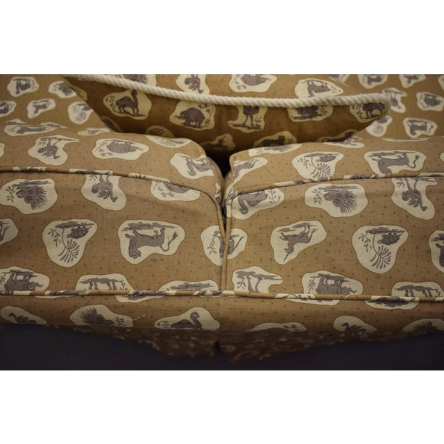Cowtan & Tout Safari Upholstered Sofa w Pillow - Image 6 of 9