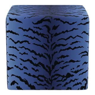 Cube Ottoman In Royal Tiger By Old World Weavers For Sale