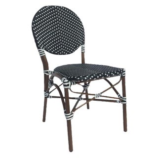 Black & White Color Café Bistro Chair