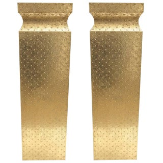 Hollywood Regency Brass Pedestals - a Pair For Sale