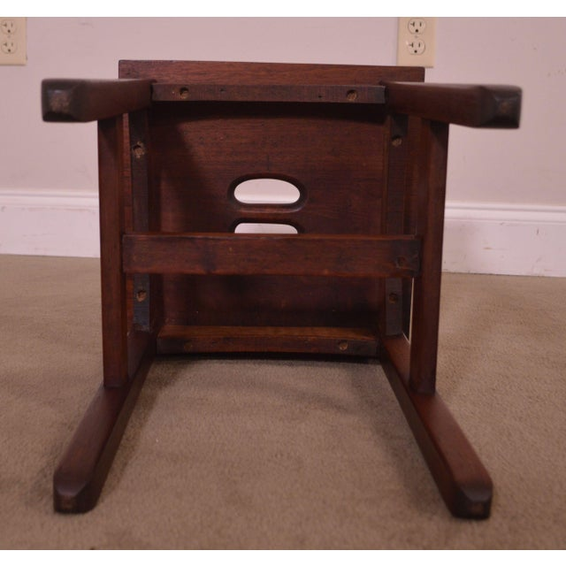 Antique Mission Style Mahogany Taboret Side Table For Sale - Image 10 of 13