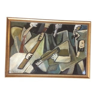 Original Modernist Stewart Ross Musicians Painting