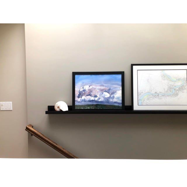 """2010s Contemporary Landscape Plein-Air Watercolor Painting, """"Cloud Study From Magnuson"""", by Artist David O. Smith For Sale - Image 5 of 11"""