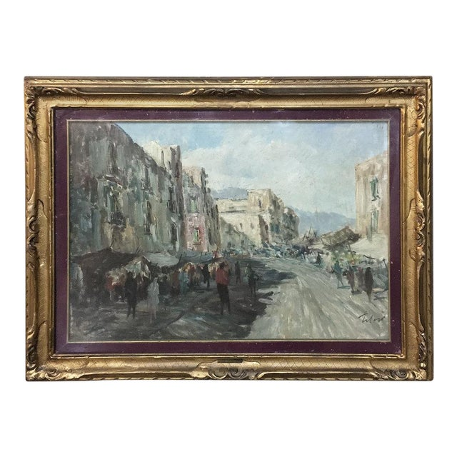 Antique Impressionist Framed Oil Painting by Francesco Filosa (1910-1990) For Sale