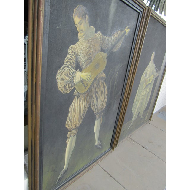 Herman Heyer Vintage Musician Oil Panels - A Pair For Sale - Image 4 of 9
