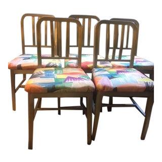 1940s Vintage Emeco Chair Set- 5 Pieces For Sale