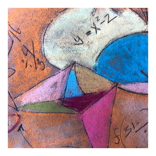 """Math Problem"" Original Pastel by Erik Sulander 7x8 For Sale"
