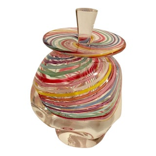 Heron Art Glass Perfume Bottle