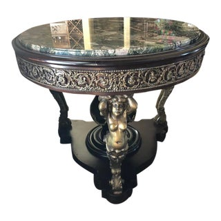 19th Century Ormolu Mounted Mahogany Center Table For Sale