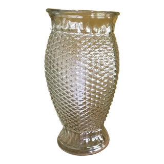 Diamond Point Quilted Glass Vase