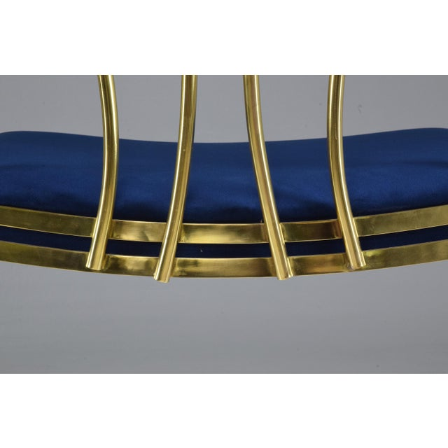 Hollywood Regency 20th Century French Vintage Brass Armchair, 1970-1980 For Sale - Image 3 of 13