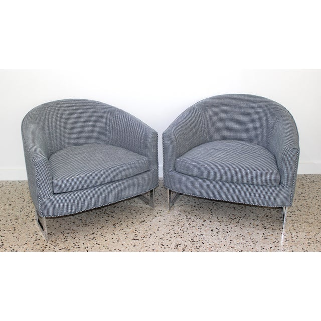 Mid-Century Modern Milo Baughman for Thayer Coggin Chairs - a Pair For Sale - Image 10 of 13