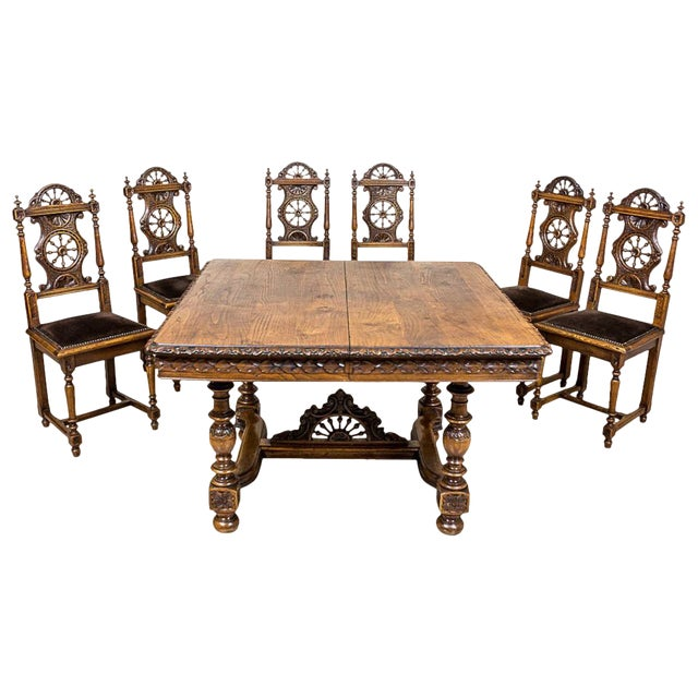 Brittany Table with Chairs, circa 1890 For Sale