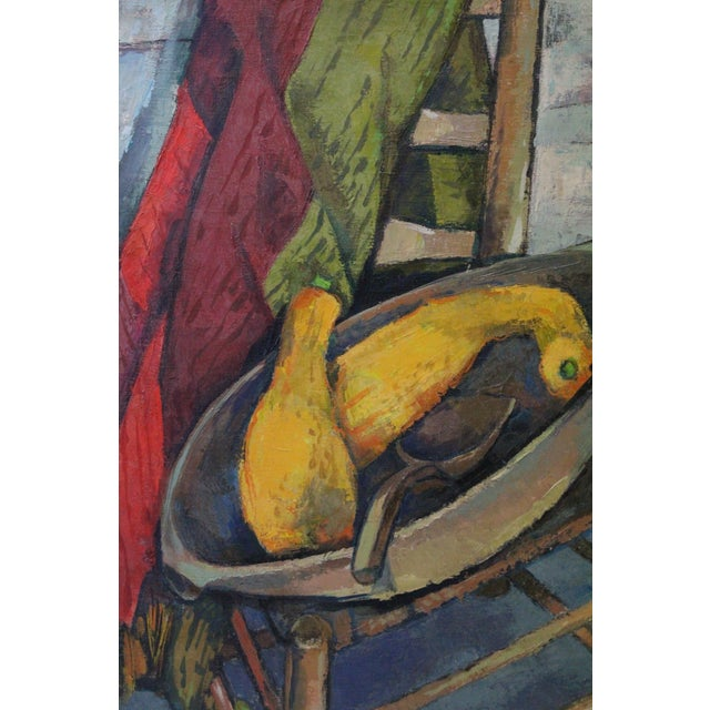 Mid-Century Modern Vintage Mid-Century Buchholz Antiques and Summer Squash Oil Painting For Sale - Image 3 of 5