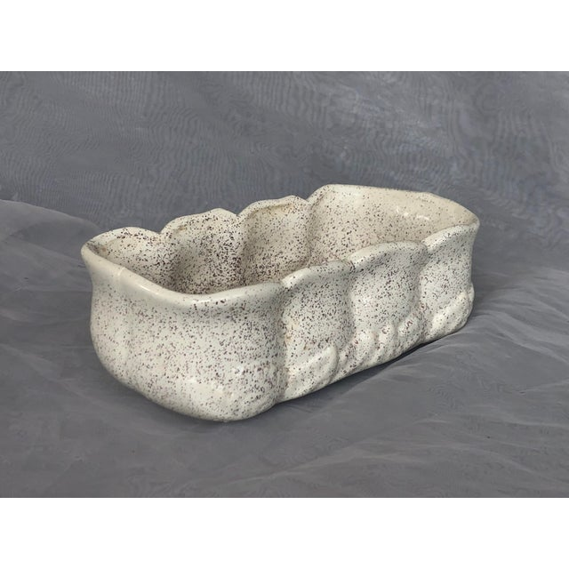 Mid-Century Modern Vintage 1950s Speckle Pottery Indoor Planter For Sale - Image 3 of 12