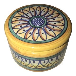 1960s Vintage Dip-A-Mano Porcelain Box For Sale