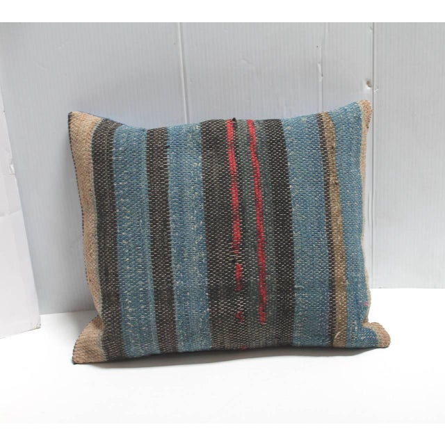 Late 19th Century Group of Three 19th American Rag Rug Pillows For Sale - Image 5 of 5