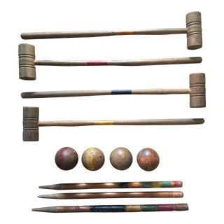 Antique Standard Croquet Set For Sale