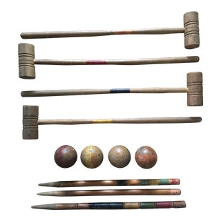 Antique Standard Croquet Set