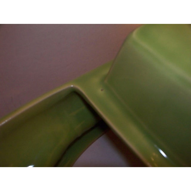 Ceramic Mid-Century Green Boat Lamp For Sale - Image 7 of 11