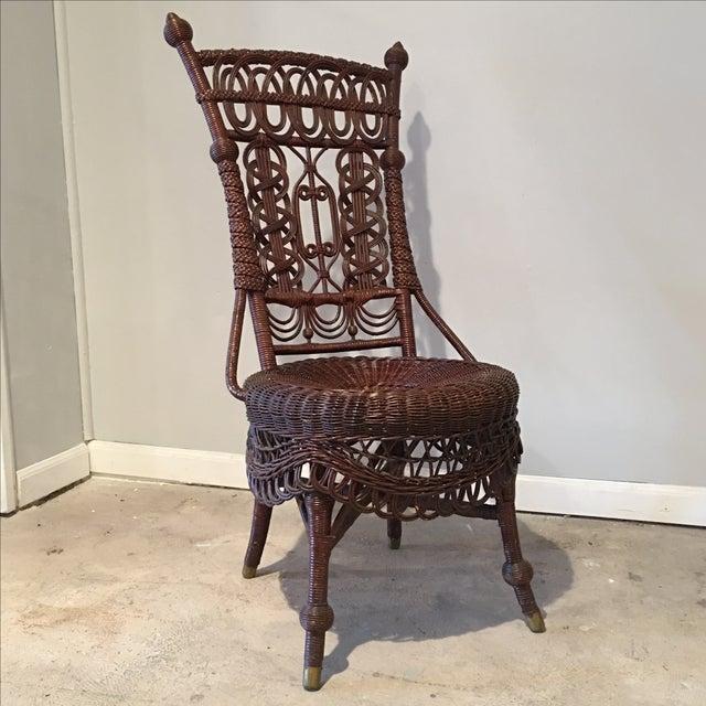 Heywood-Wakefield Victorian Wicker Chair - Image 3 of 11