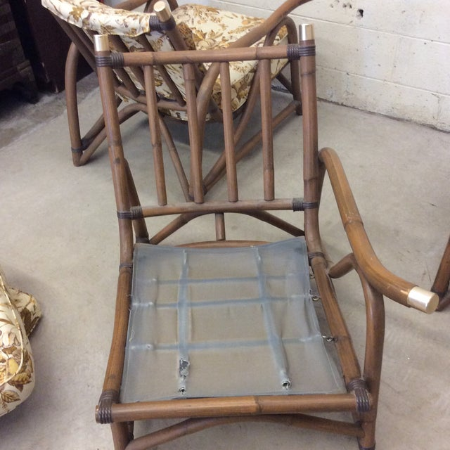 McGuire Style Bamboo Patio Set For Sale - Image 10 of 13