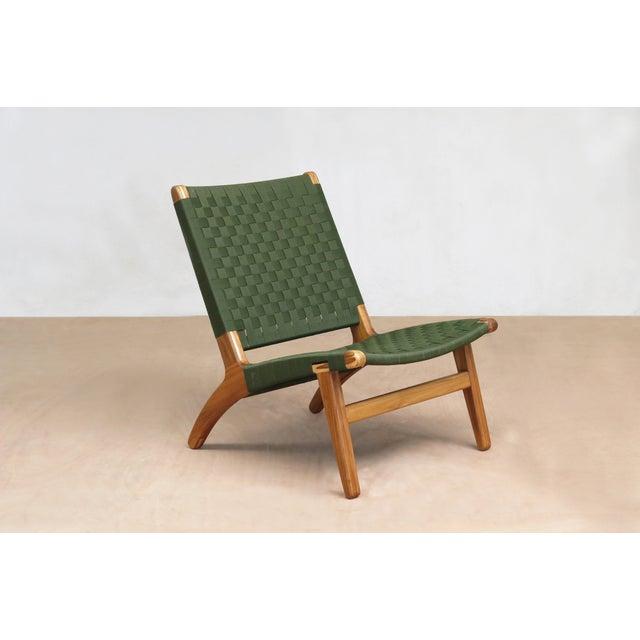 Mid-Century Modern Green Nylon Lounge Chair - Image 7 of 7