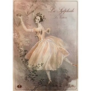 Vintage Ballet Poster, 1984 La Sylphide, Polish National Ballet Company For Sale